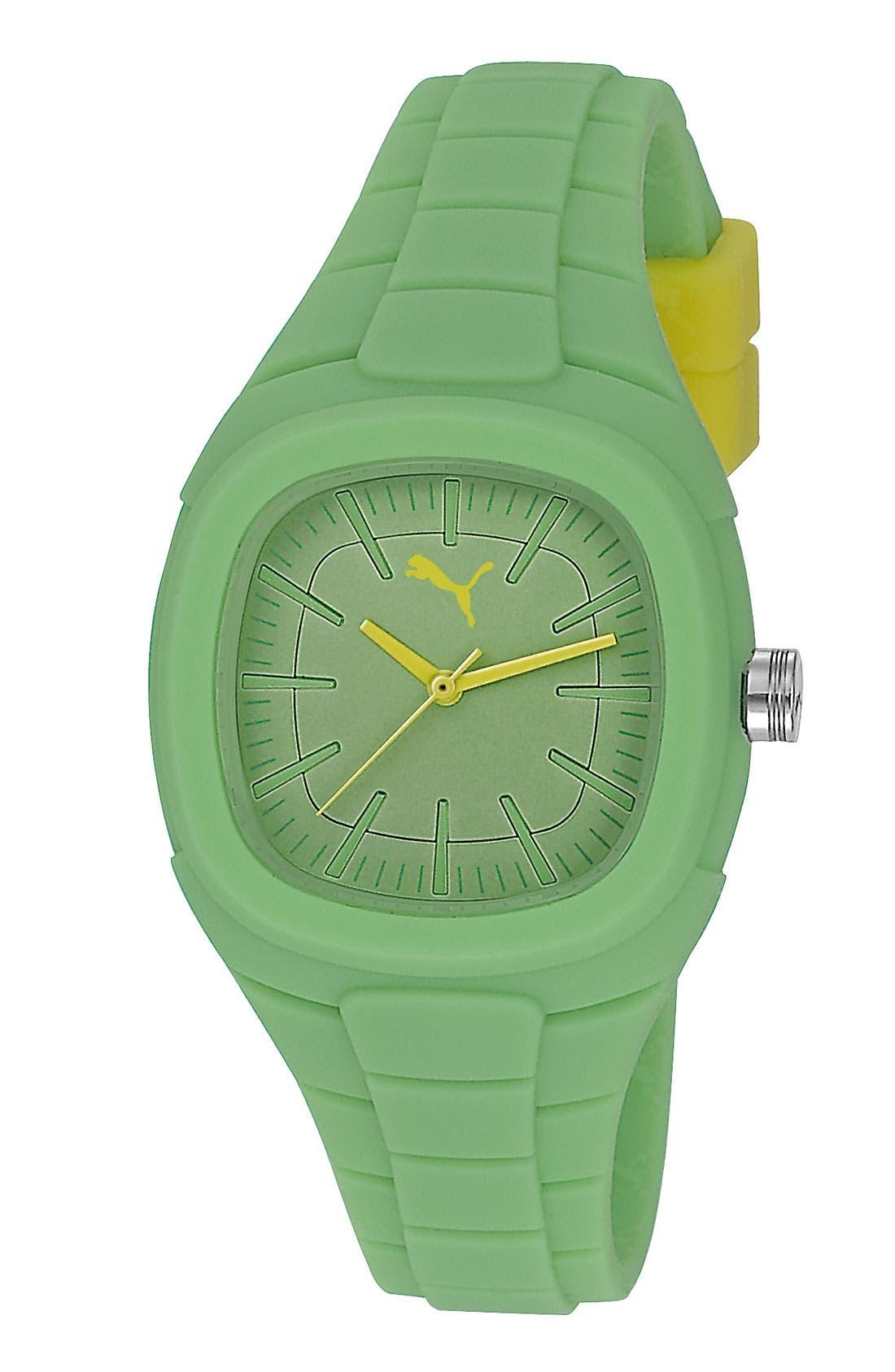 Main Image - PUMA 'Bubblegum - Small' Silicone Watch, 32mm x 36mm