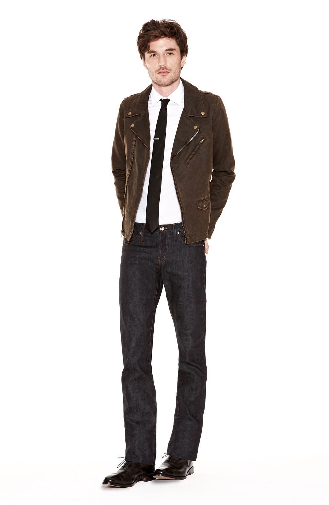 Alternate Image 7  - Obey Coated Moto Jacket