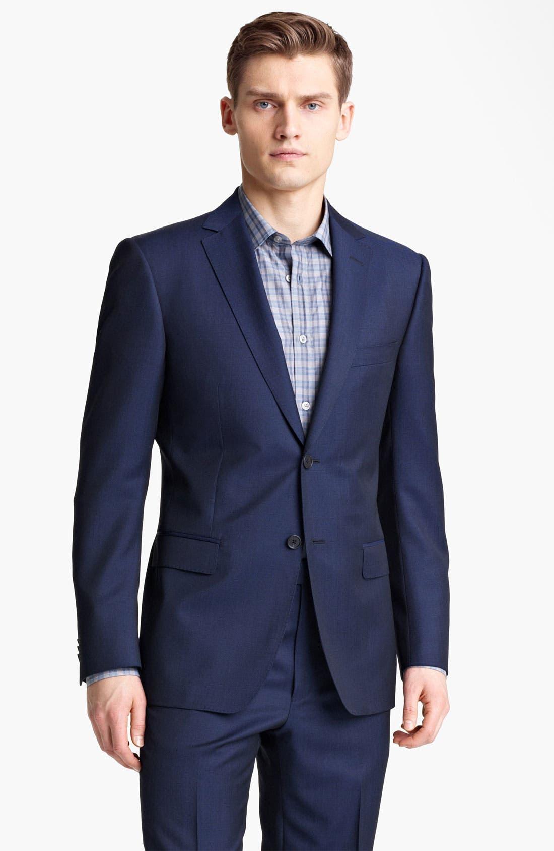 Alternate Image 1 Selected - Z Zegna Trim Fit Wool Blend Suit