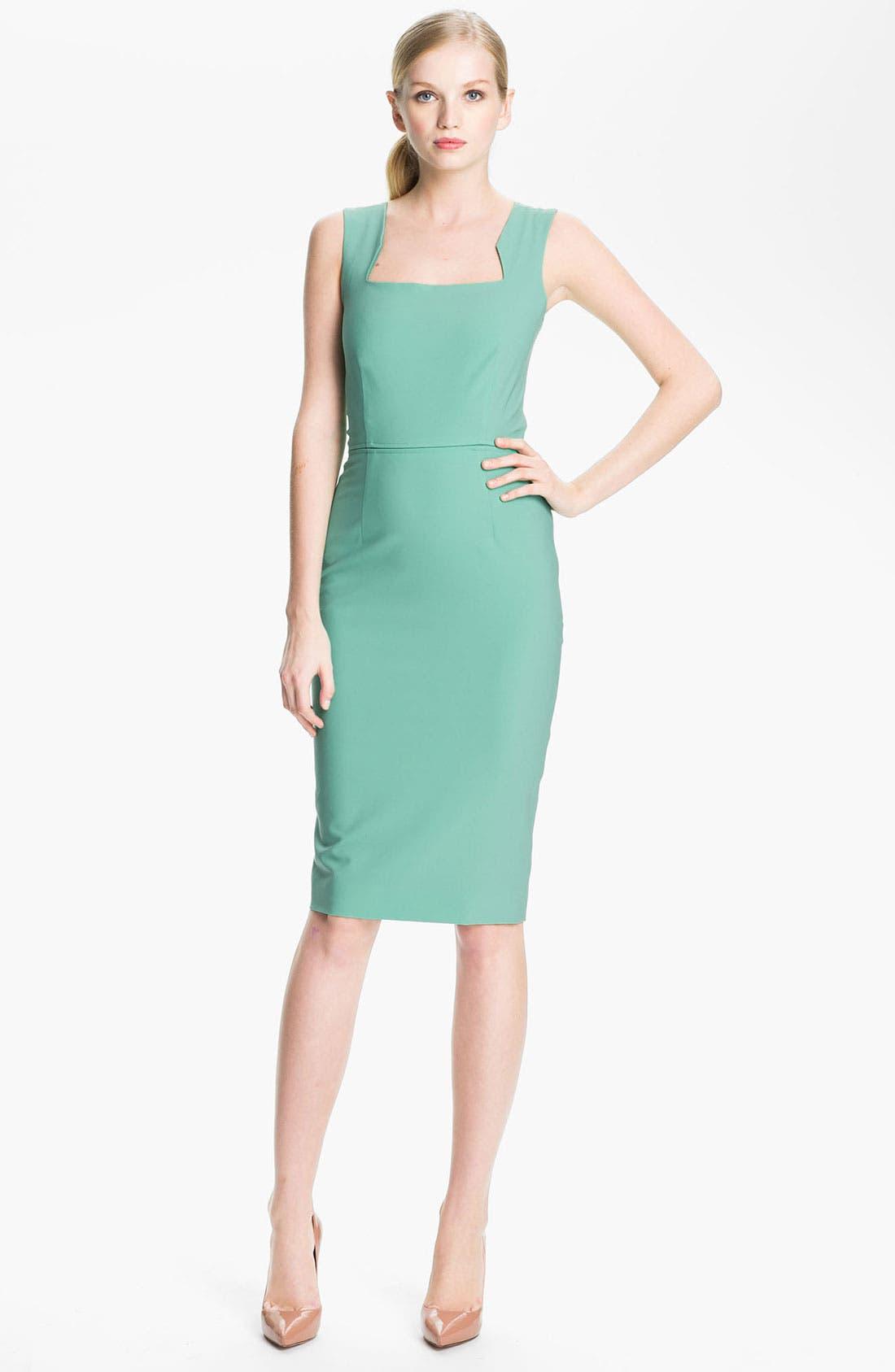 Alternate Image 1 Selected - Rachel Roy Stretch Wool Sheath Dress