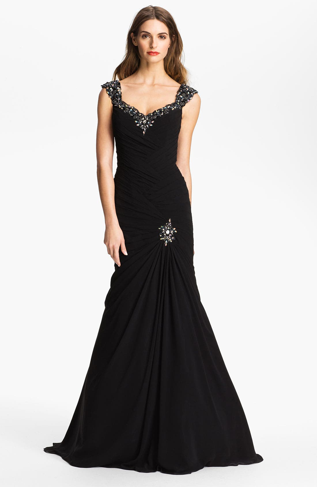 Alternate Image 1 Selected - Veni Infantino Embellished Trumpet Gown