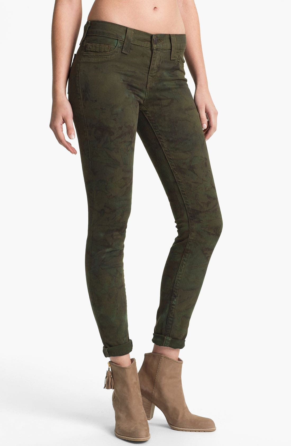 Alternate Image 1 Selected - True Religion Brand Jeans 'Halle' Skinny Stretch Jeans (Military)