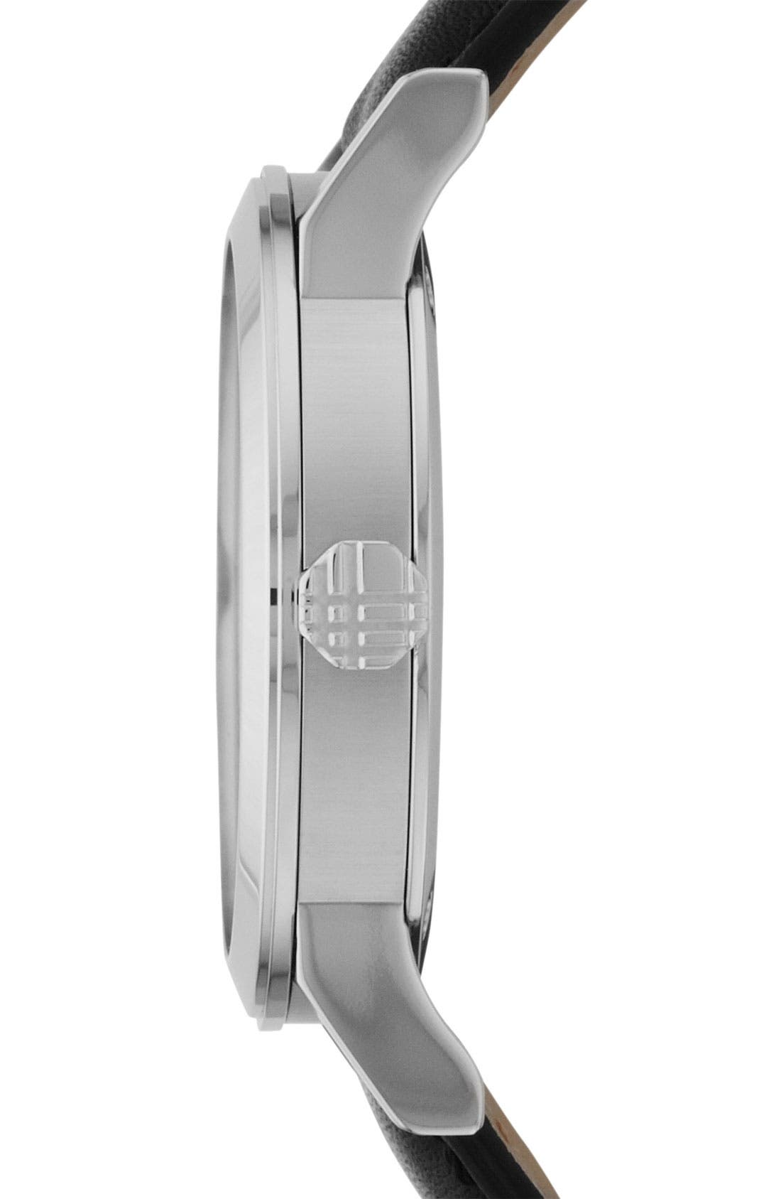Alternate Image 2  - Burberry Medium Check Stamped Watch, 34mm