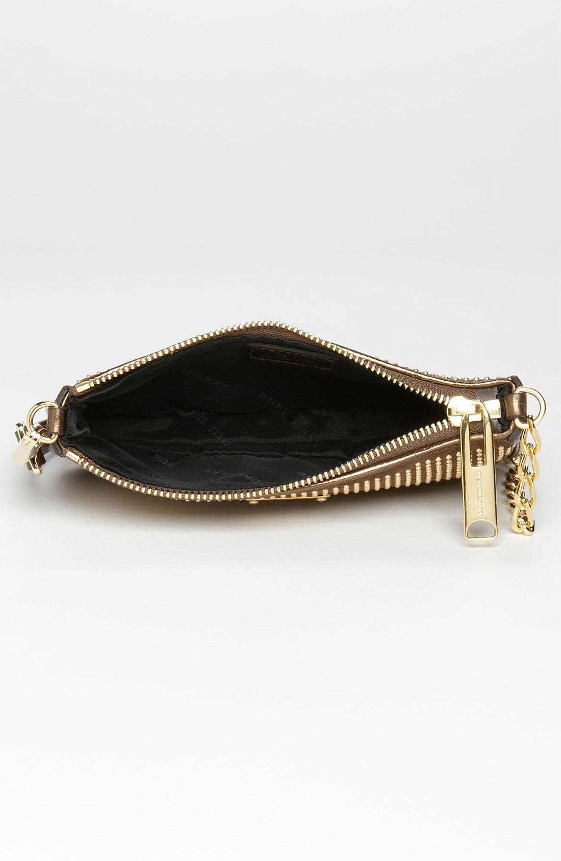 Alternate Image 3  - Burberry 'Metallic Studs' Suede & Leather Pouch