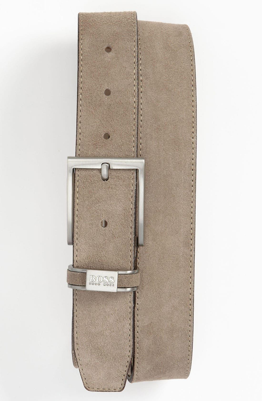Alternate Image 1 Selected - BOSS Black 'Settimo' Leather Belt