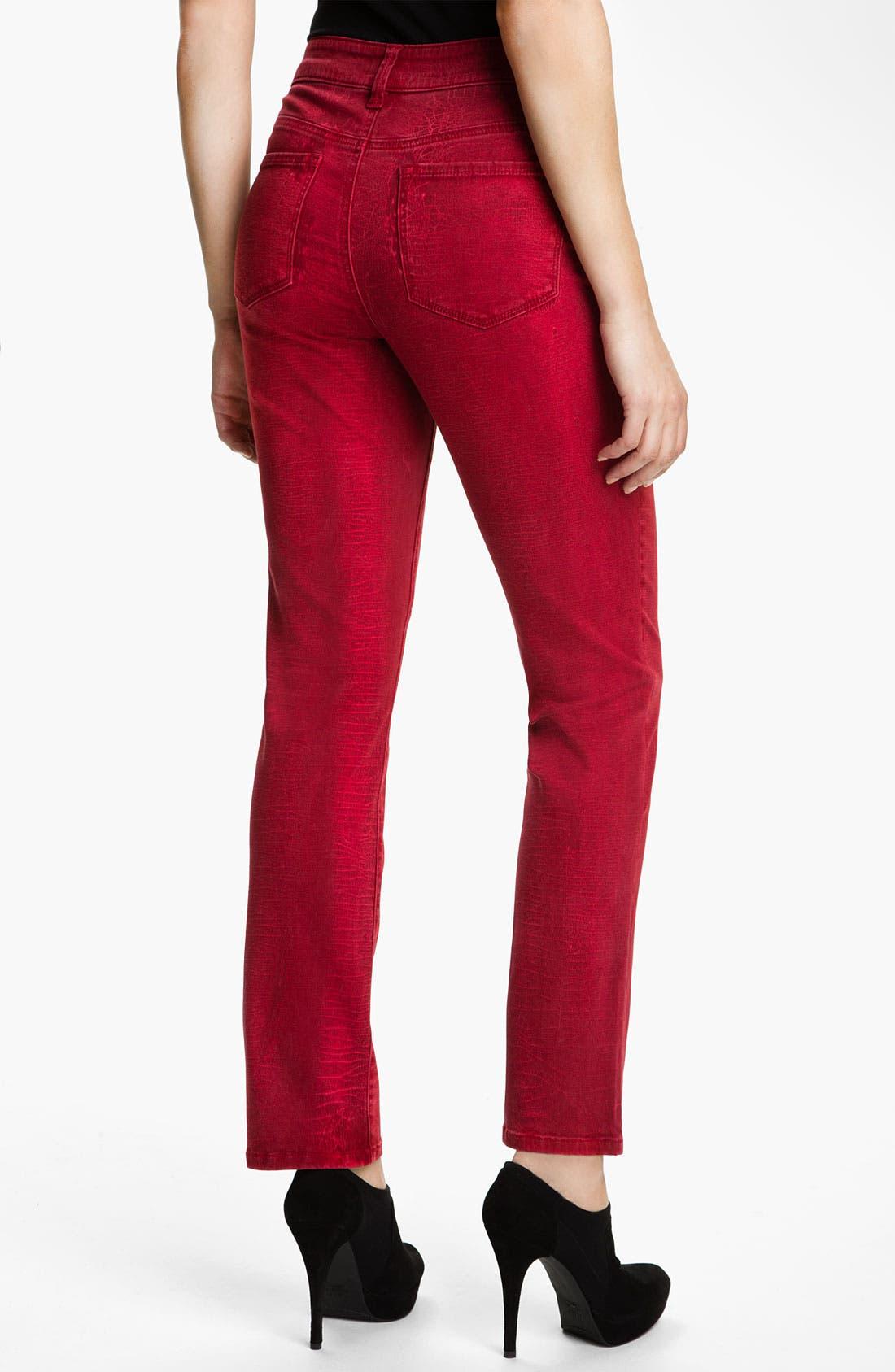 Alternate Image 2  - NYDJ 'Sheri - Shattered' Print Skinny Twill Jeans (Petite)