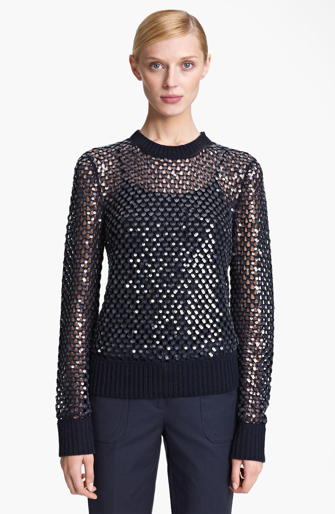 Alternate Image 1 Selected - Michael Kors Paillette Cashmere Sweater