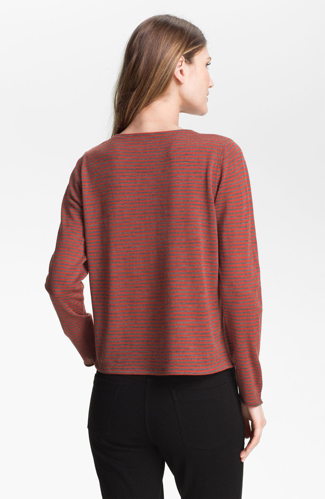 Alternate Image 2  - Eileen Fisher Stripe Fine Merino Top