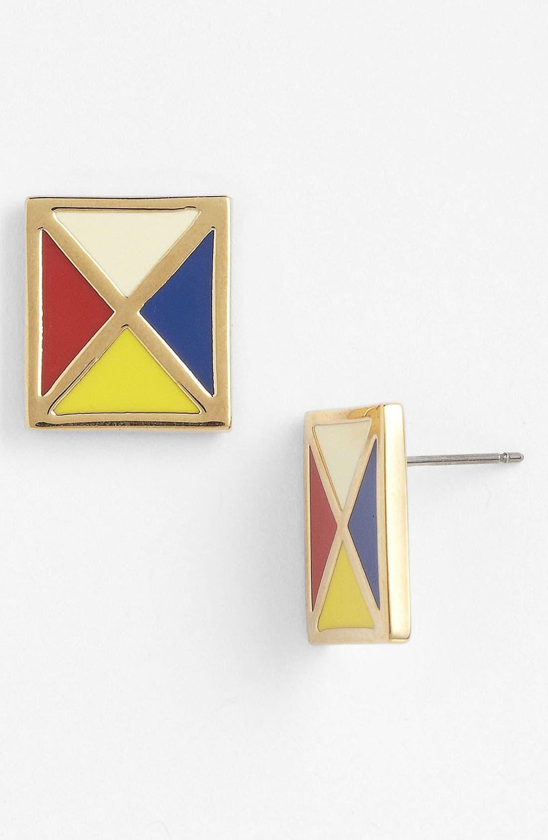 'Ahoy Flag' Stud Earrings,                         Main,                         color, Nile Blue Multi/ Gold