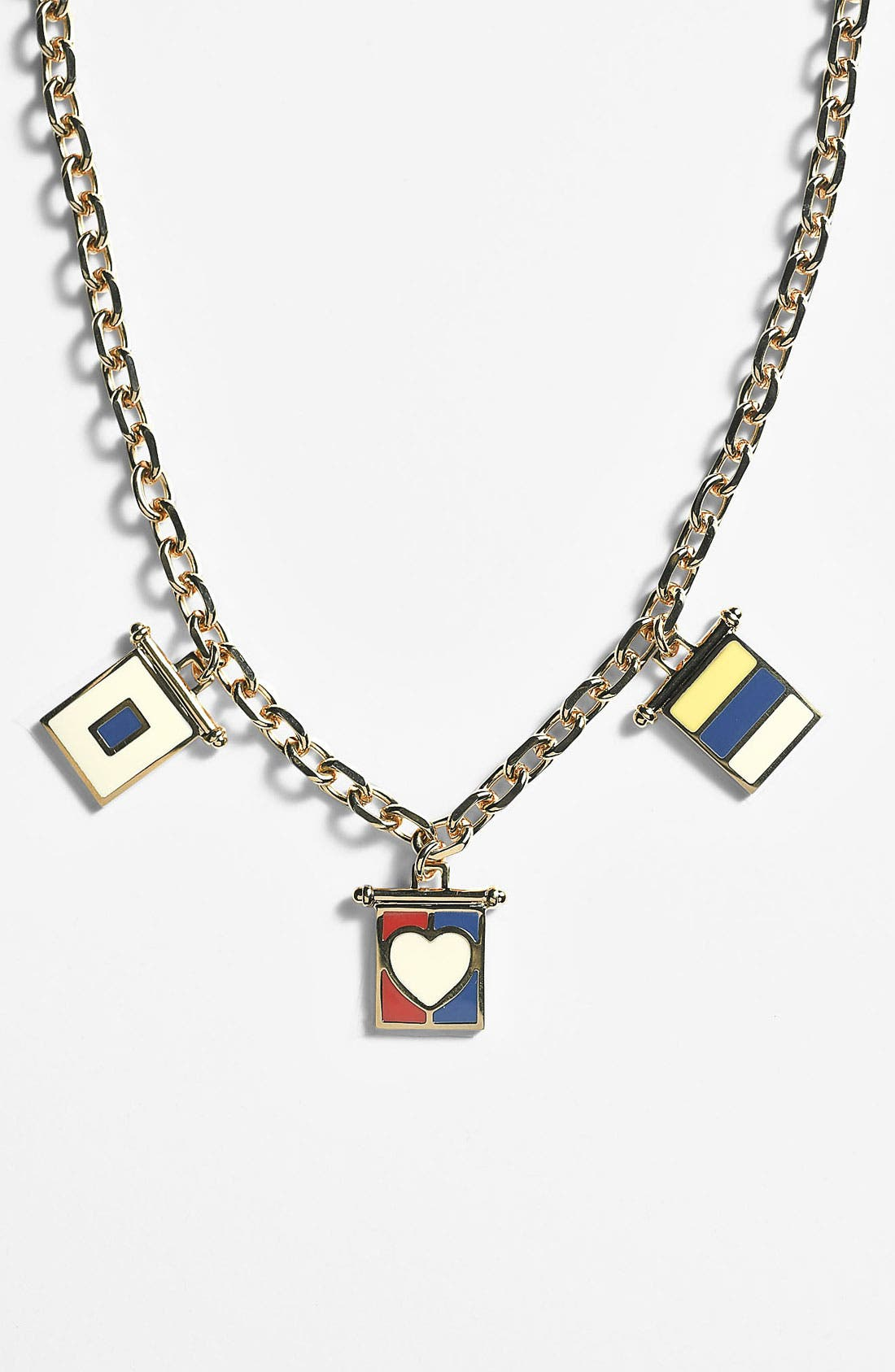 Alternate Image 1 Selected - Tory Burch 'Ahoy' Cluster Pendant Necklace