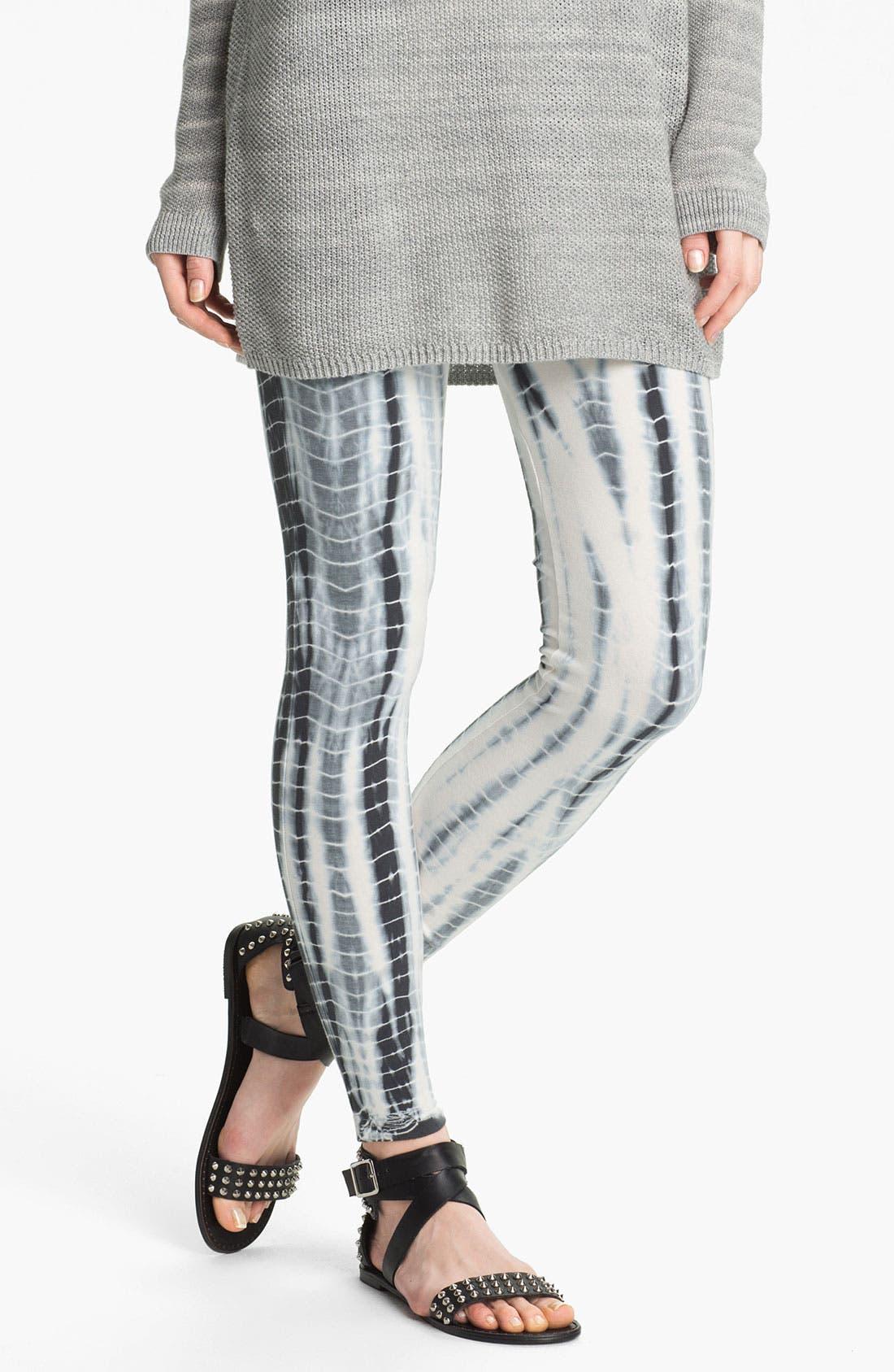Alternate Image 1 Selected - BP. Tie Dye Leggings (Juniors)