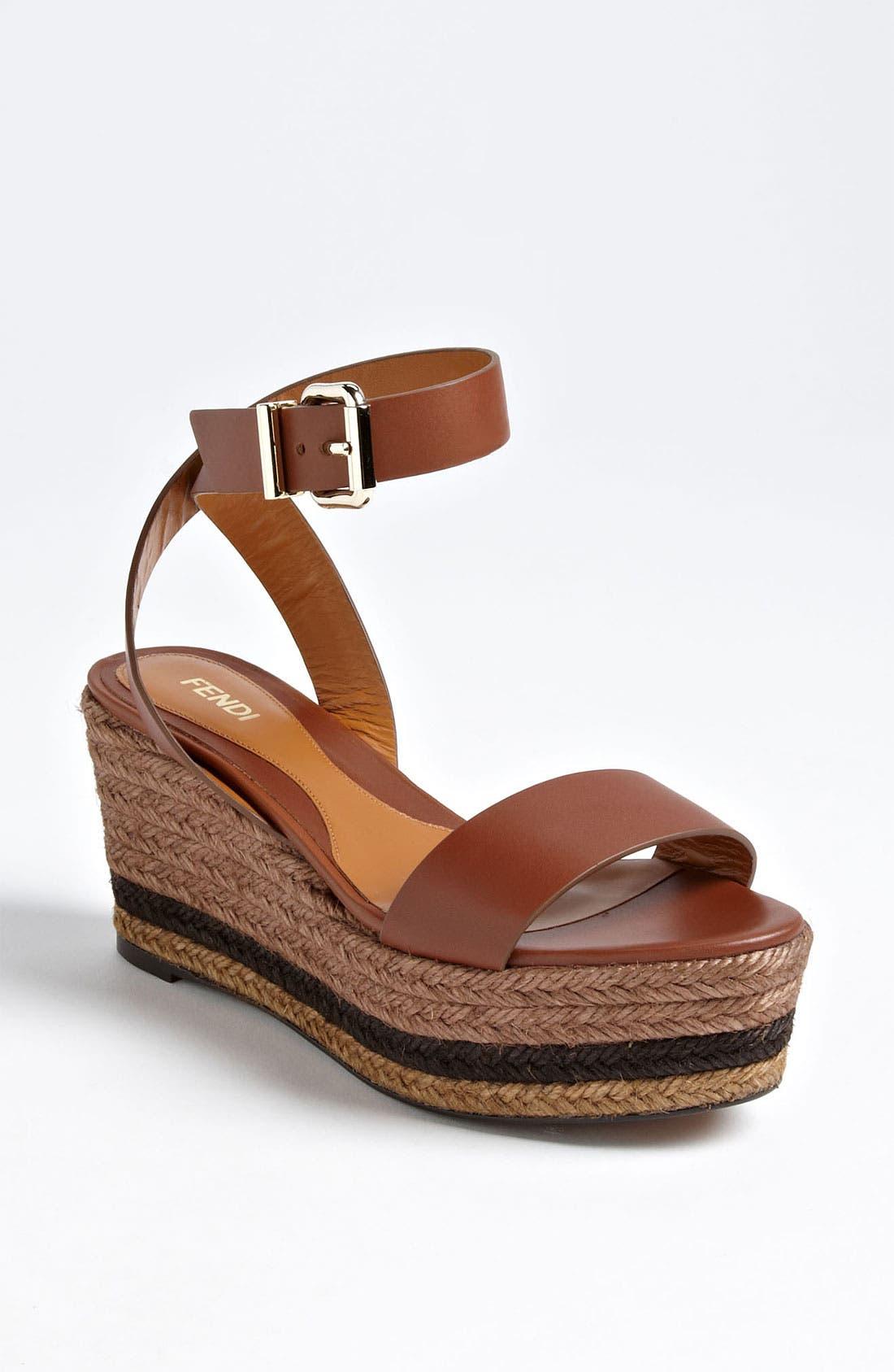 Alternate Image 1 Selected - Fendi 'Pequin' Sandal