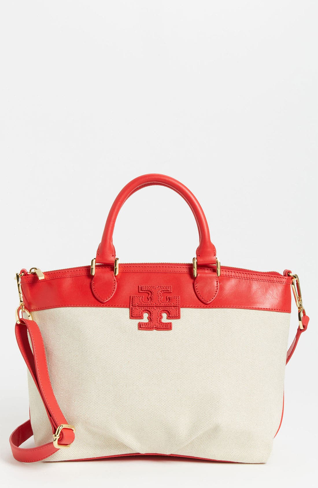 Alternate Image 1 Selected - Tory Burch 'Stacked T - Small' Satchel