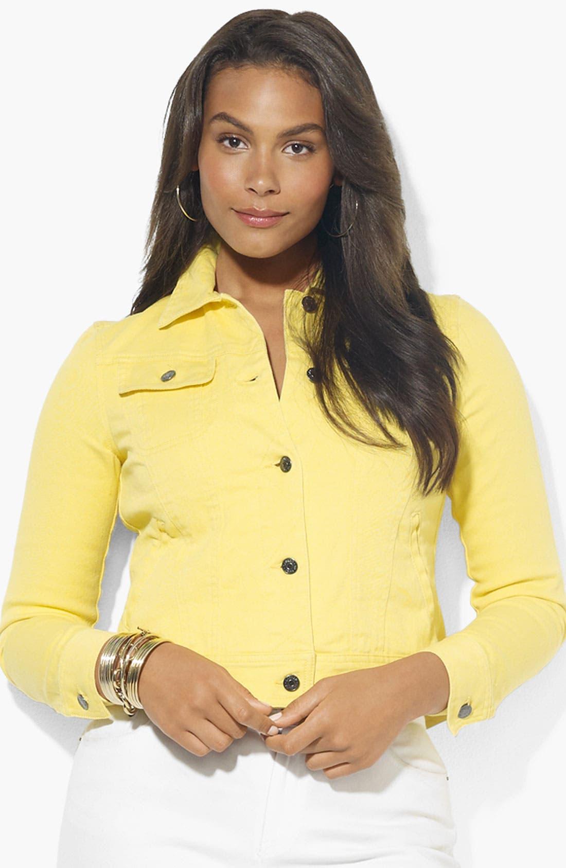 Alternate Image 1 Selected - Lauren Ralph Lauren Crop Denim Jacket