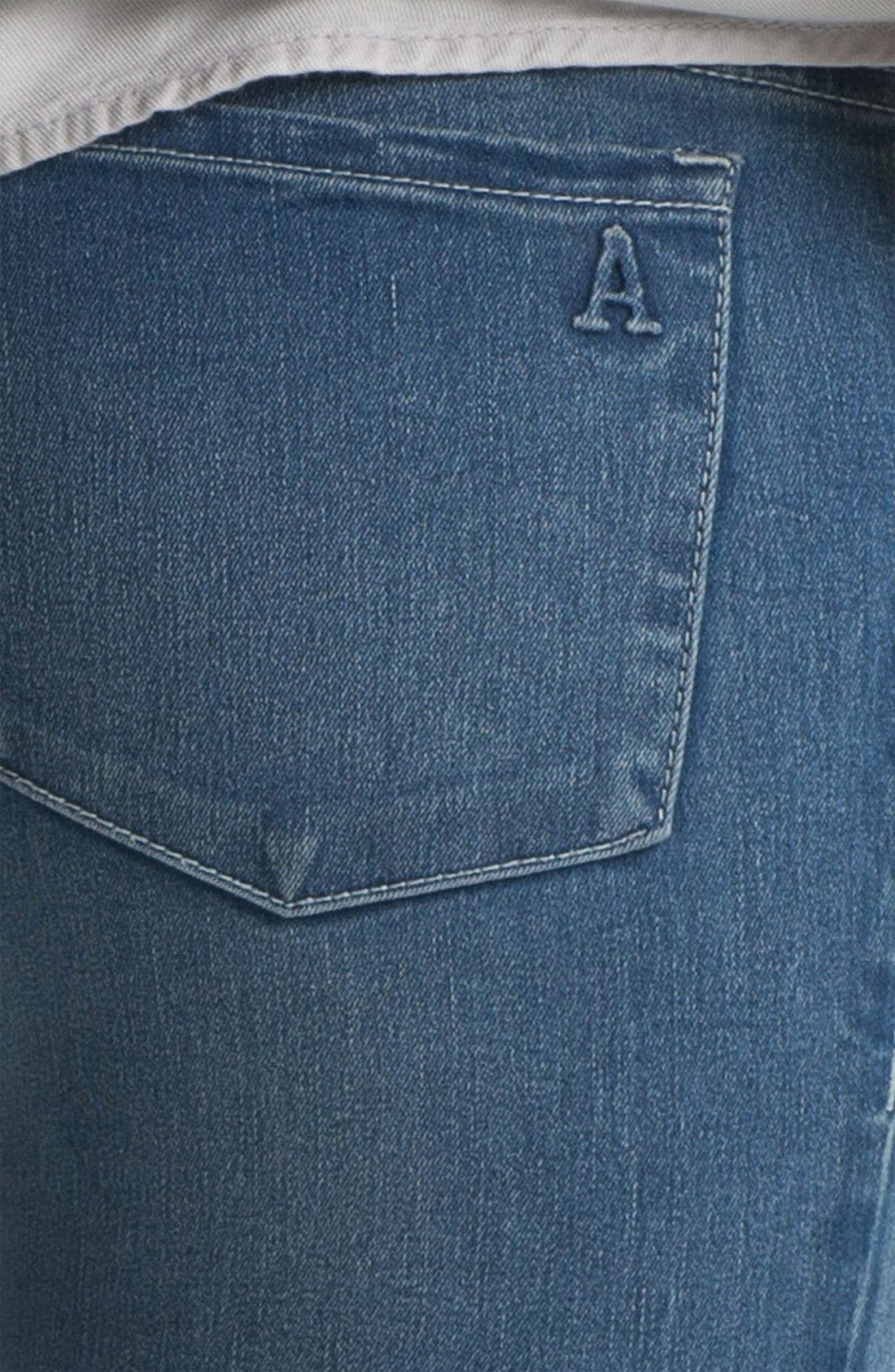 Alternate Image 5  - Articles of Society 'Mya' Skinny Jeans (Atlantic) (Juniors)