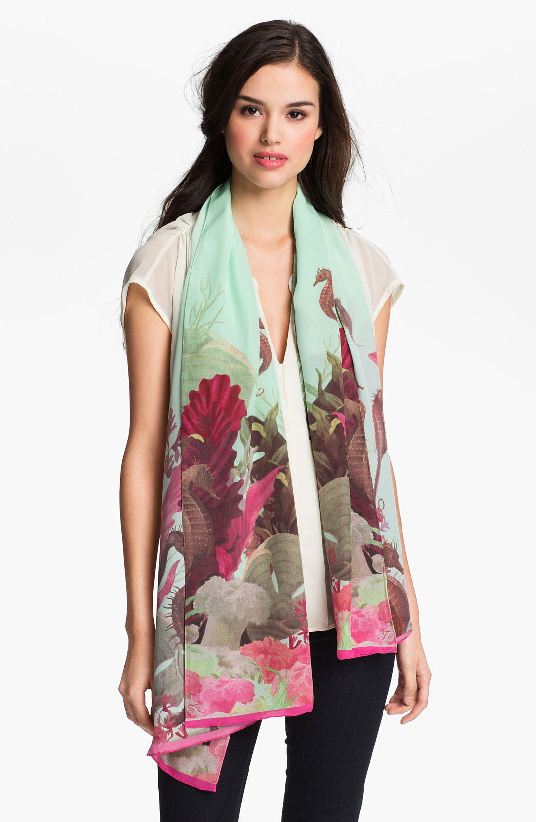 Alternate Image 1 Selected - Ted Baker London 'Under the Sea' Silk Scarf