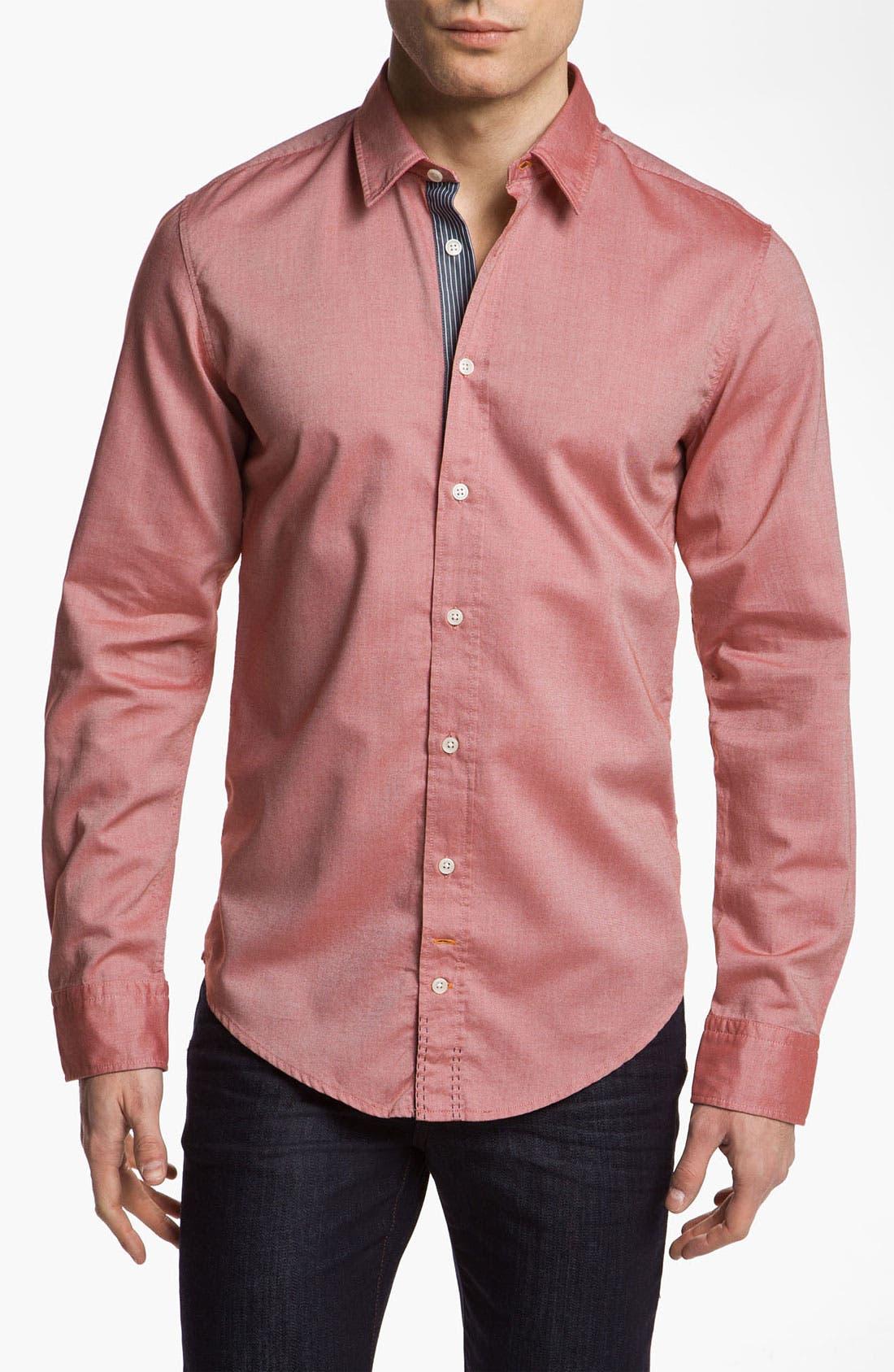 Alternate Image 1 Selected - BOSS Orange Oxford Woven Shirt