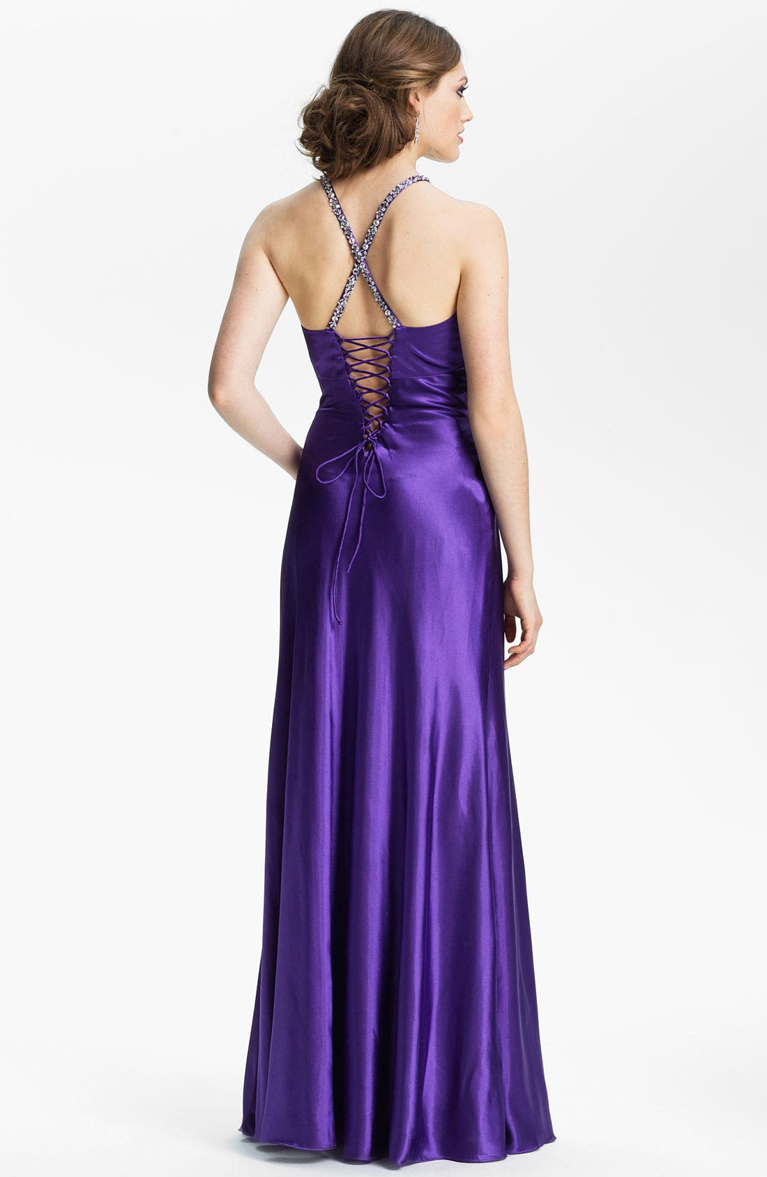 Alternate Image 2  - Sean Collection Embellished Satin Gown