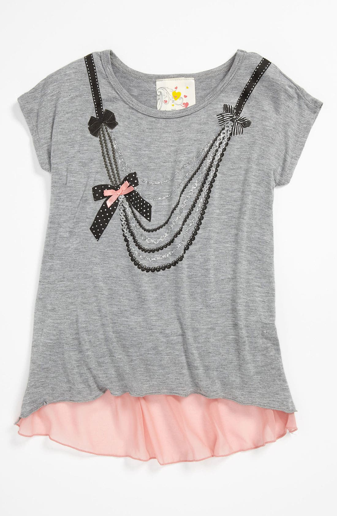 Main Image - Jenna & Jessie 'Necklace' Tee (Little Girls)