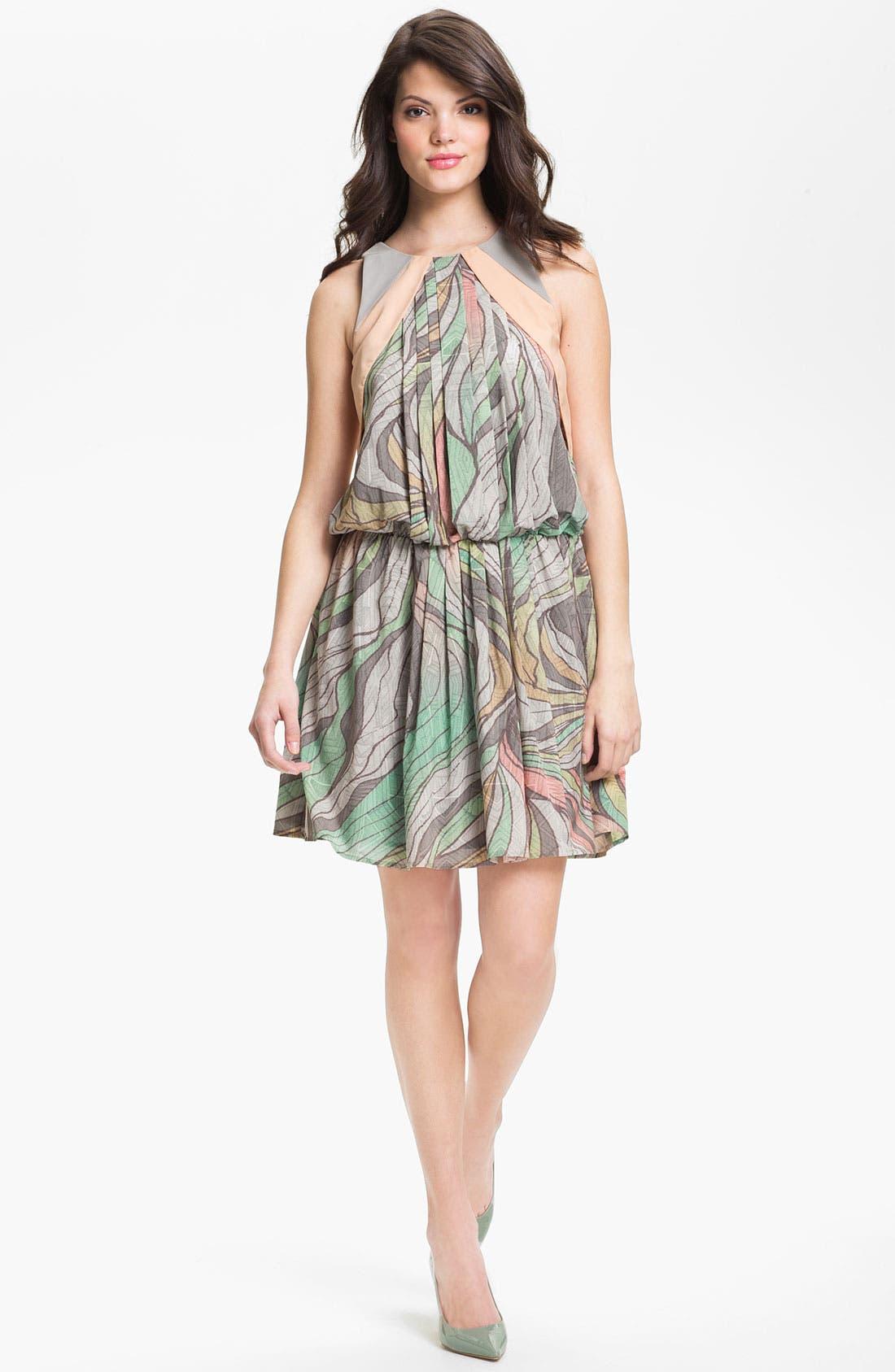 Alternate Image 1 Selected - Jessica Simpson Print Blouson Chiffon Dress