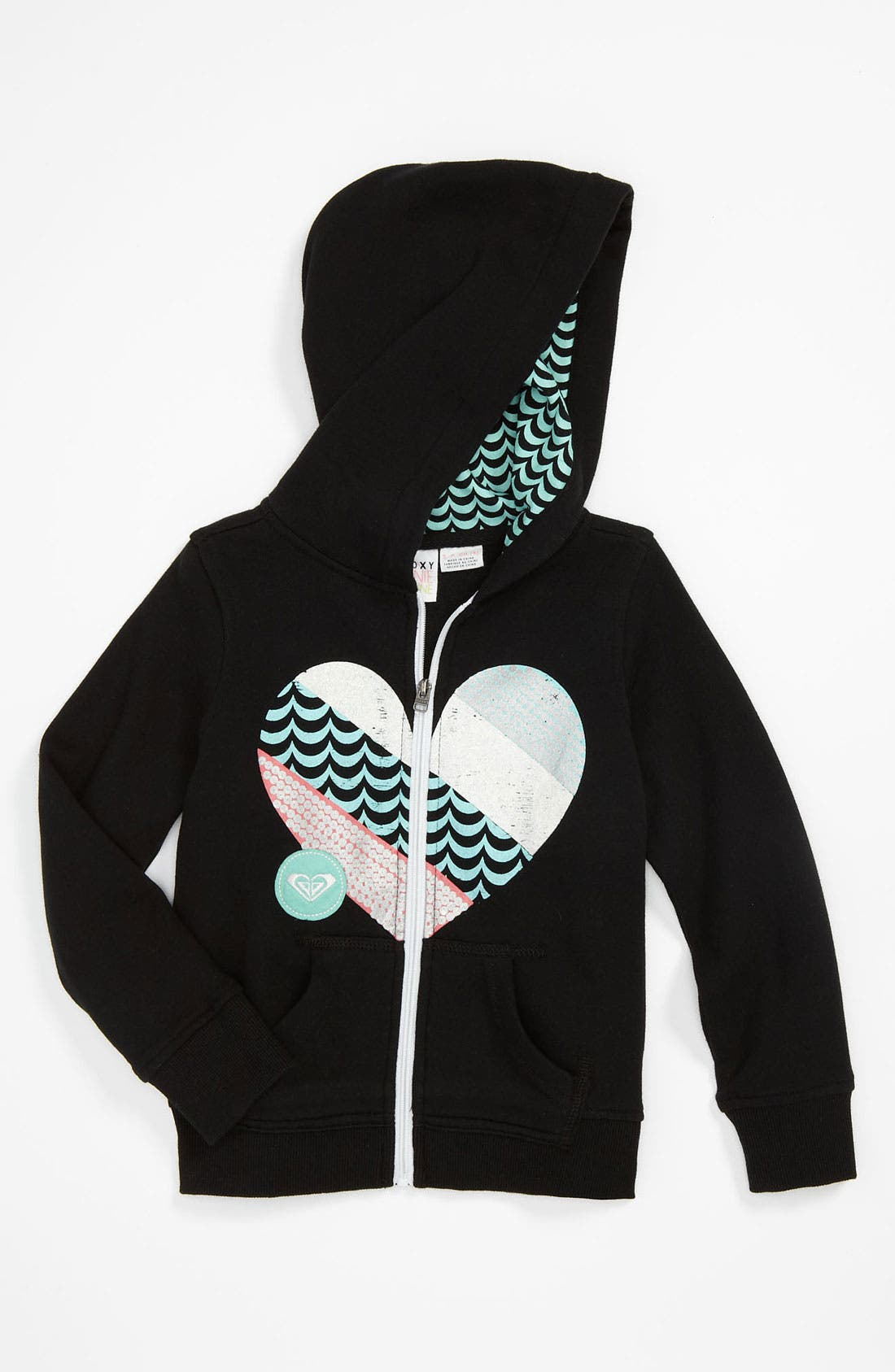 Alternate Image 1 Selected - 'Groovy Appliqué' Hoodie (Little Girls)