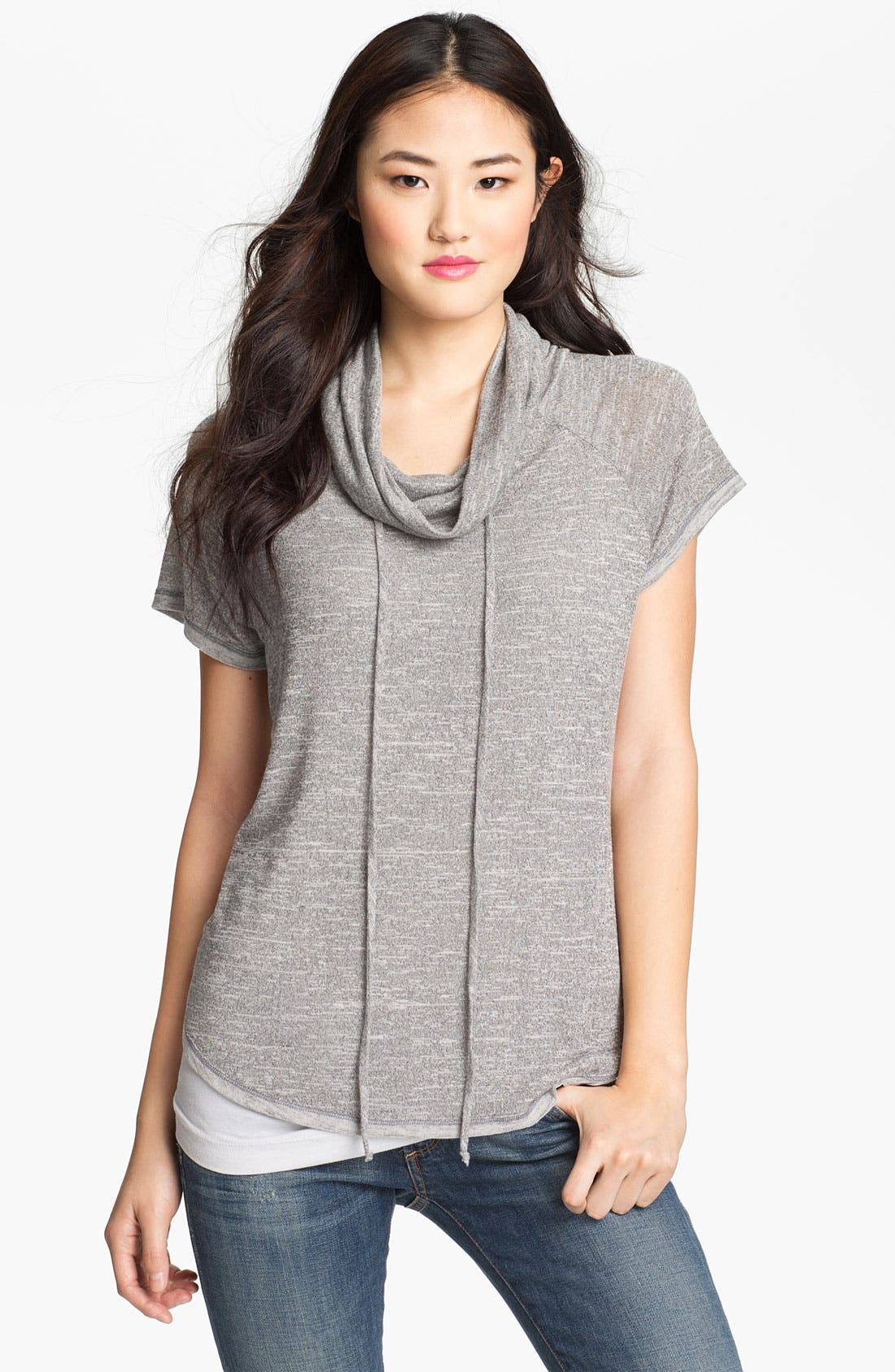 Main Image - Olivia Moon Drawstring Cowl Neck Top