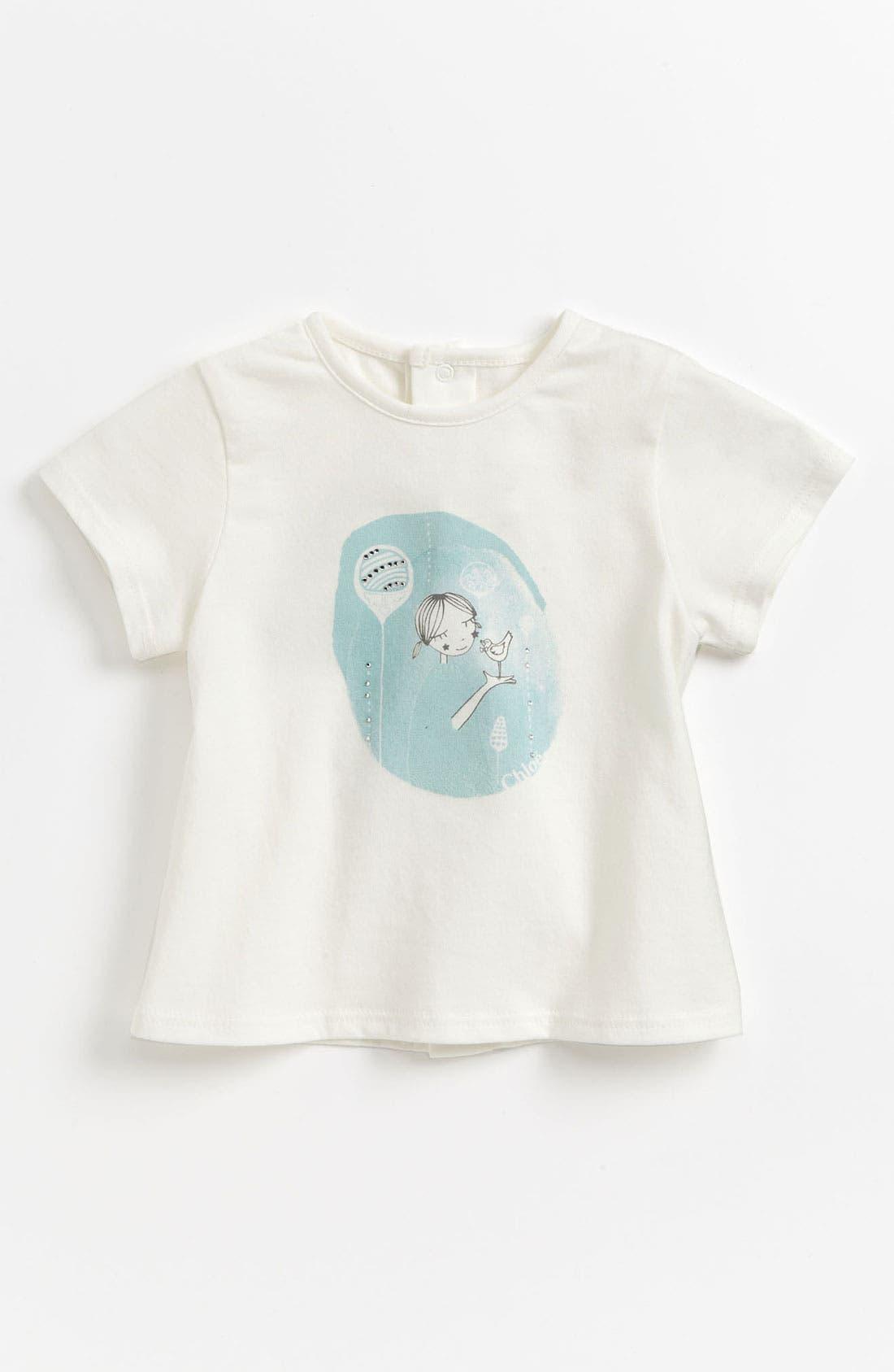 Main Image - Chloé Print Tee (Baby)