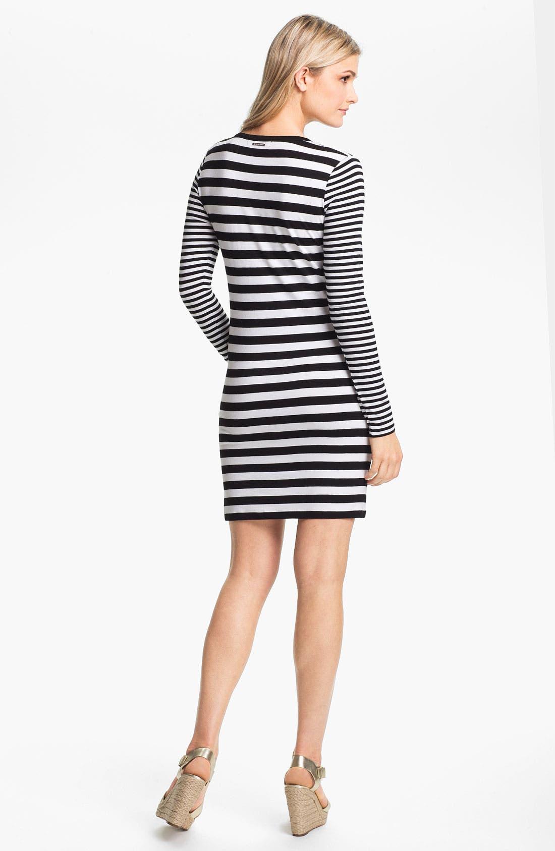 Alternate Image 2  - MICHAEL Michael Kors Stripe Crewneck Dress