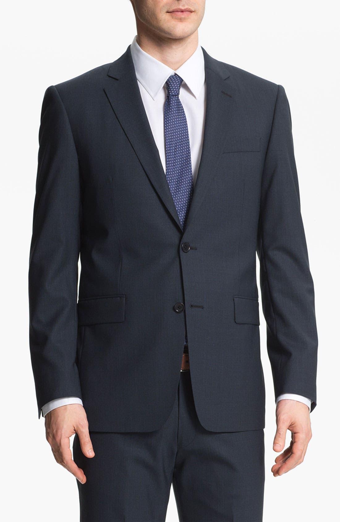 Main Image - John Varvatos Star USA 'Filmore' Trim Fit Wool Suit