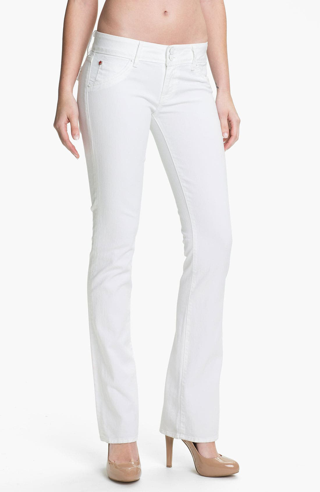 Main Image - Hudson Jeans 'Beth' Baby Bootcut Jeans (White)