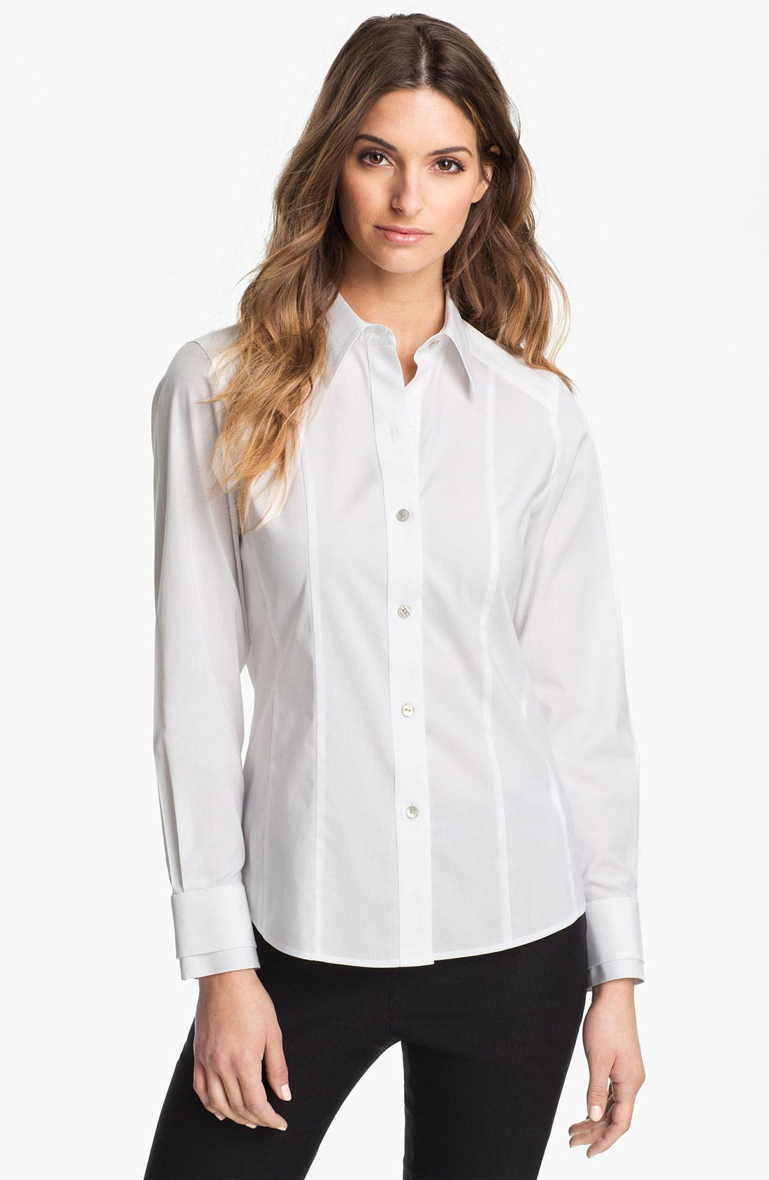 Alternate Image 1 Selected - Foxcroft Stretch Cotton Shirt