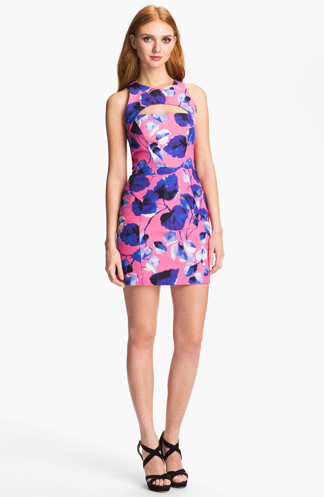 Alternate Image 1 Selected - Milly 'Ivy' Cotton Blend Sheath Dress