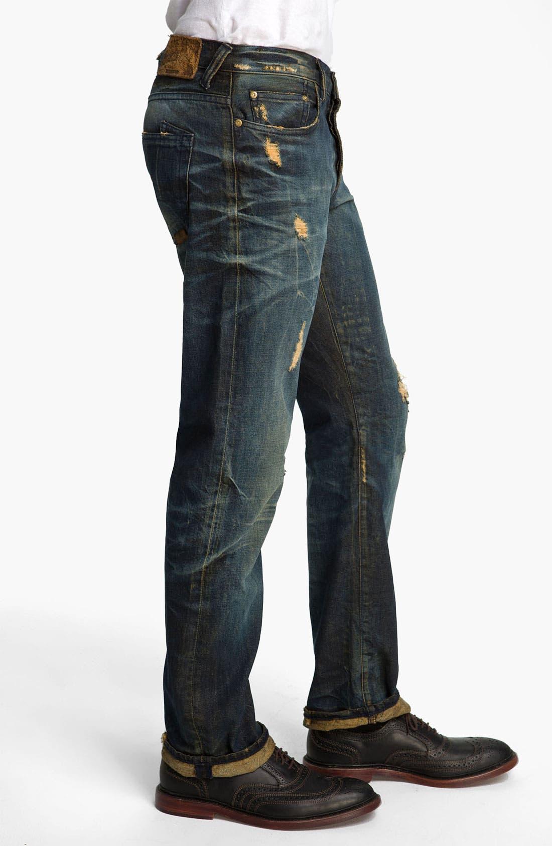 Alternate Image 3  - PRPS 'Barracuda Tiger's Nest' Straight Leg Jeans (Indigo)