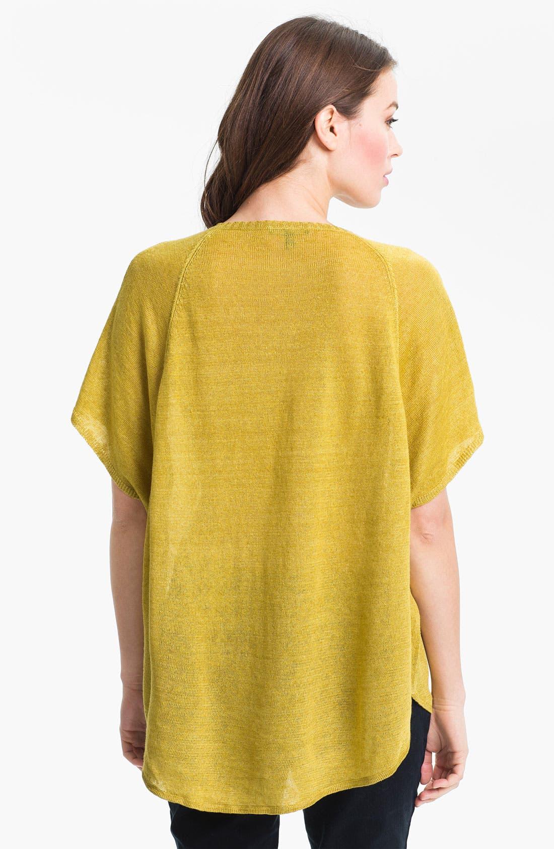 Alternate Image 2  - Eileen Fisher 'Delave' Linen V-Neck Tunic (Online Only)