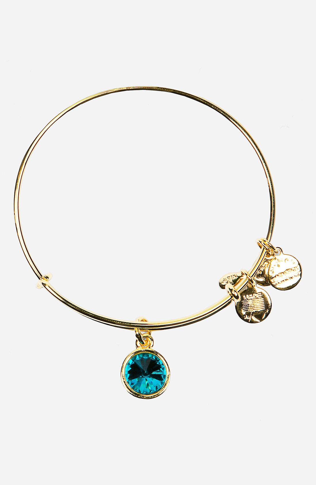 Main Image - Alex and Ani Birthstone Expandable Wire Bangle