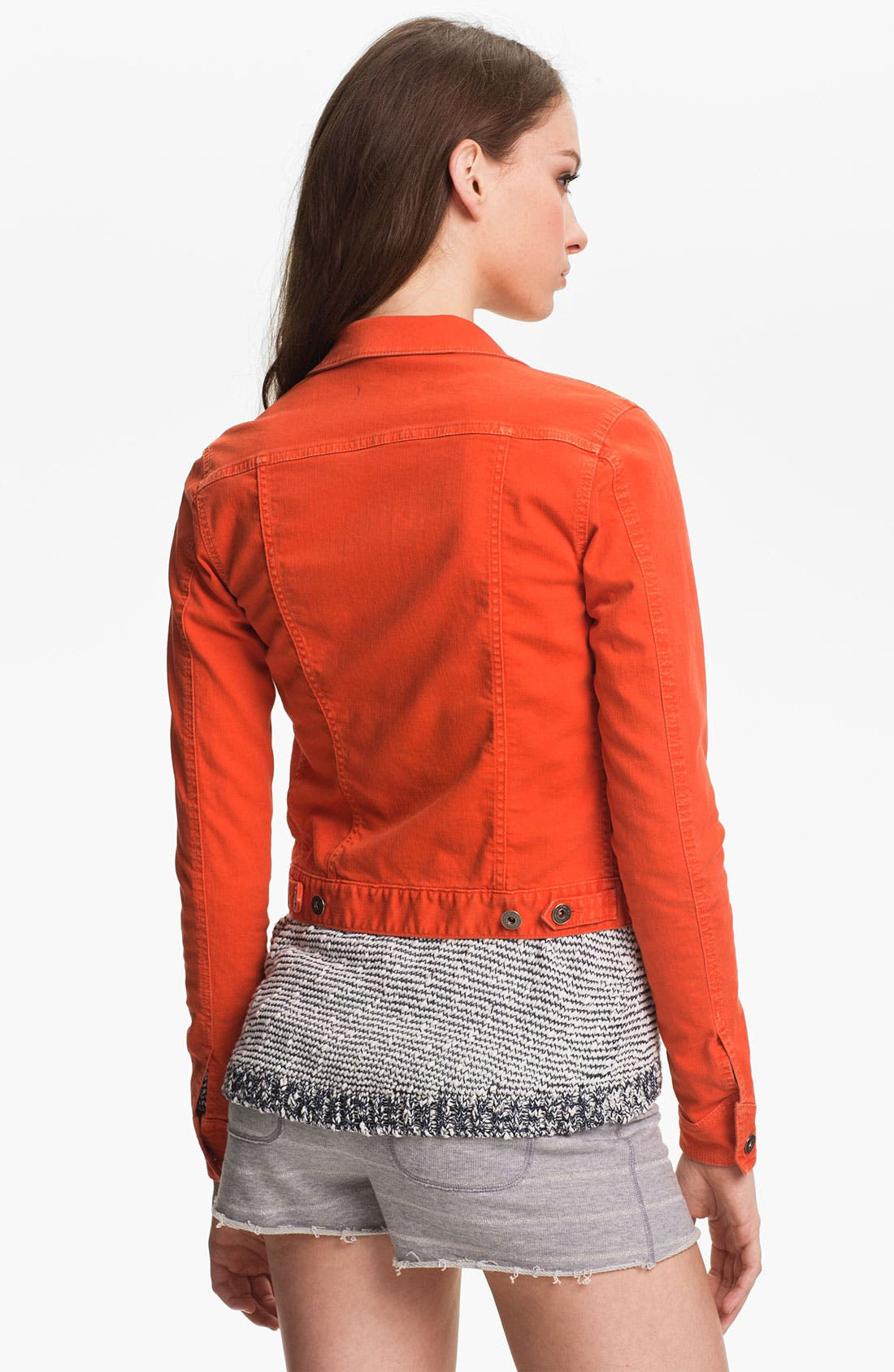 Alternate Image 2  - Two by Vince Camuto Colored Denim Jacket