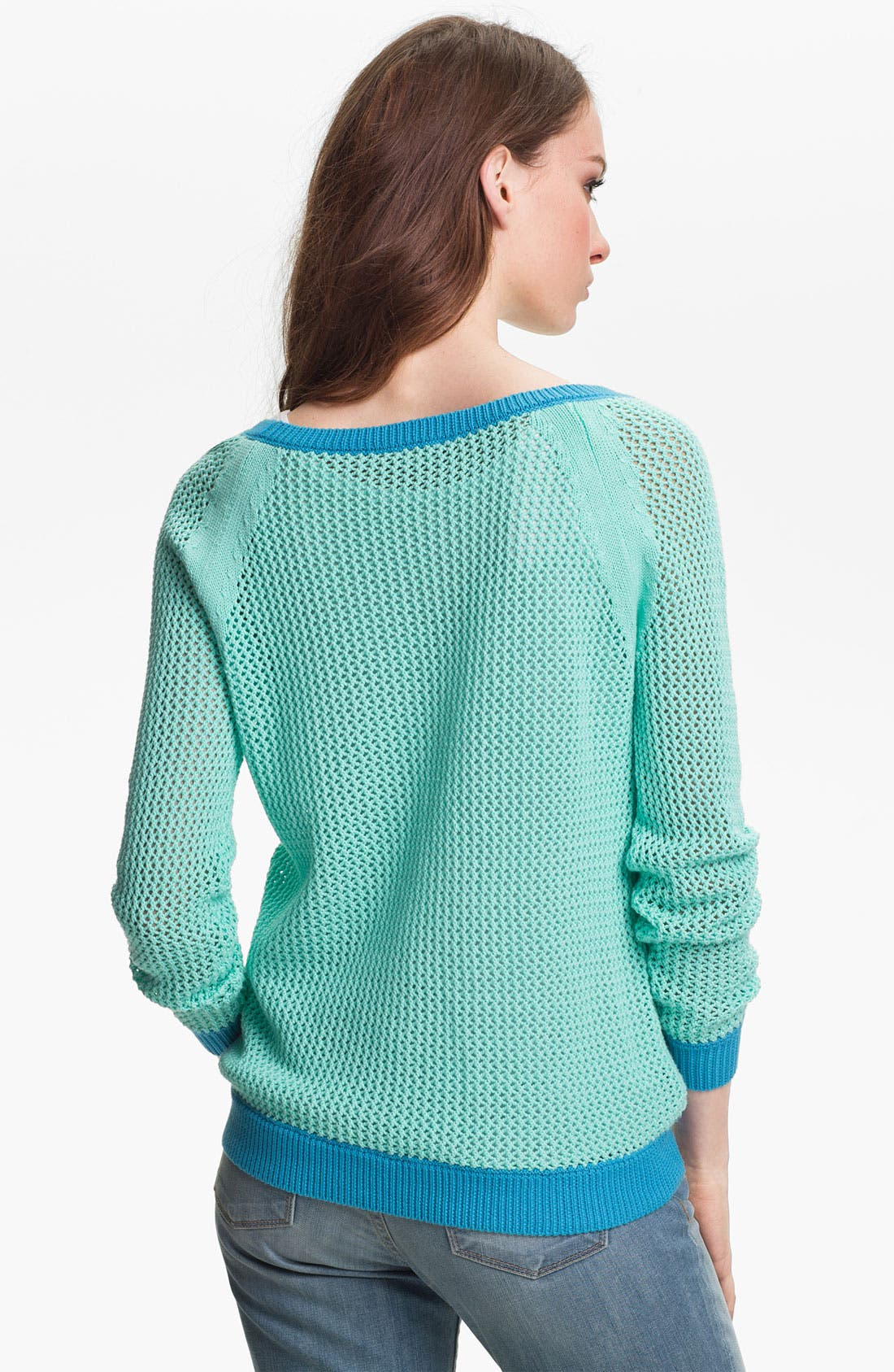 Alternate Image 2  - Two by Vince Camuto Open Stitch Sweater