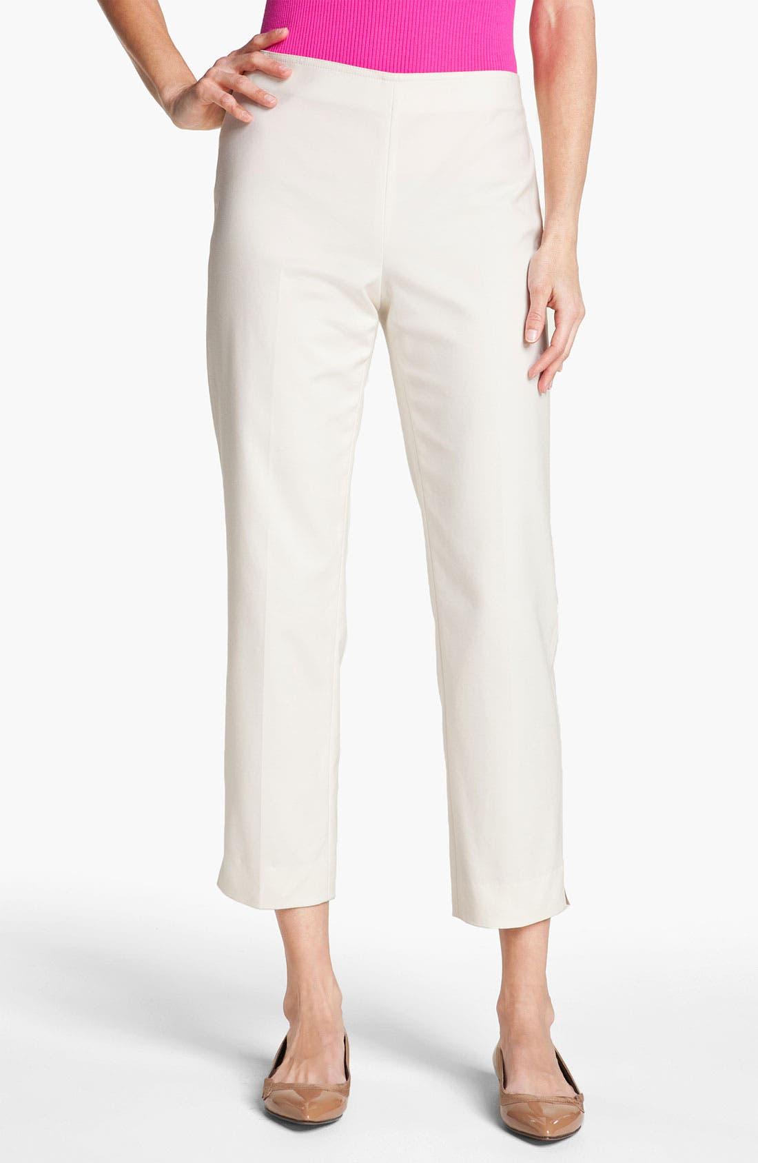 Alternate Image 1 Selected - St. John Yellow Label 'Audrey' Double Weave Stretch Cotton Capri Pants