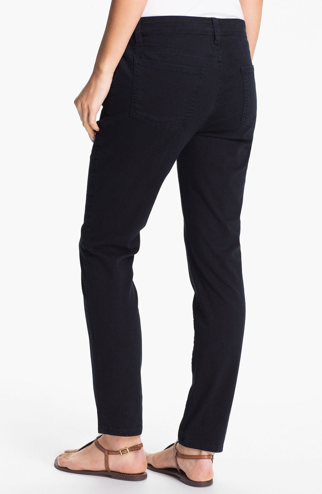 Alternate Image 2  - Eileen Fisher Skinny Ankle Jeans (Online Only)