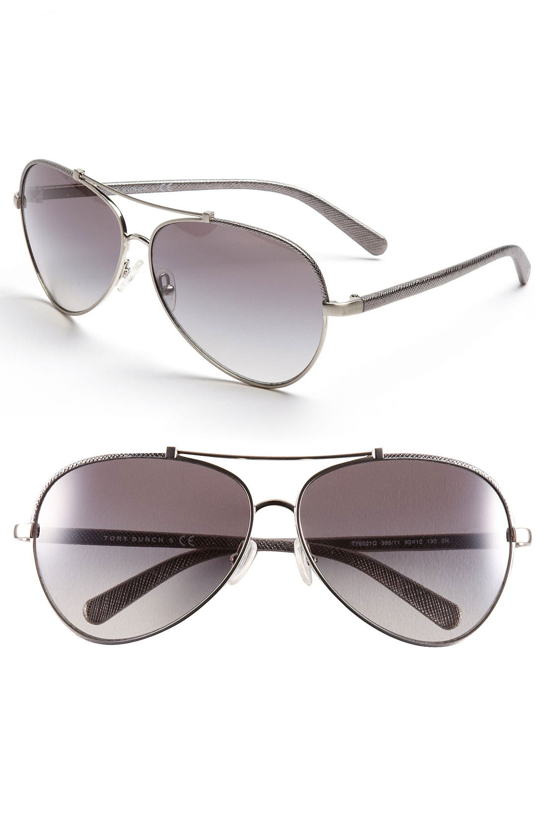 Main Image - Tory Burch 62mm Aviator Sunglasses