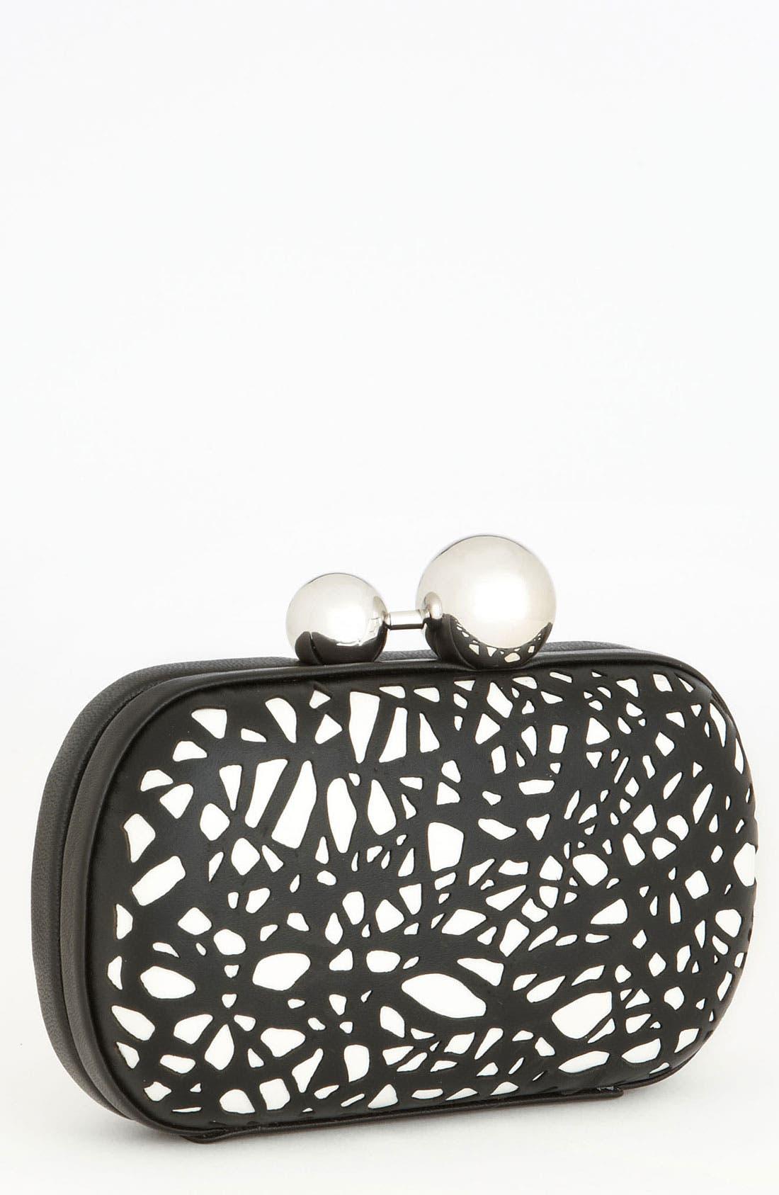Main Image - Diane von Furstenberg 'Sphere' Laser Cut Leather Clutch