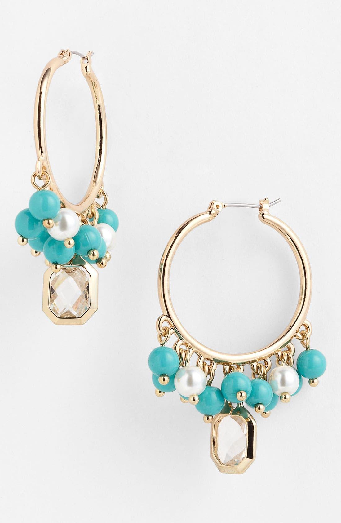 Alternate Image 1 Selected - Anne Klein 'Sorbet' Hoop Earrings