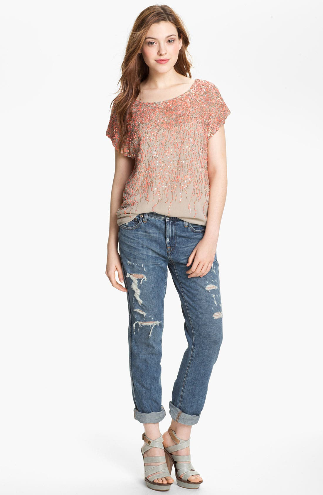 Alternate Image 1 Selected - Vince Camuto Sequin Blouse