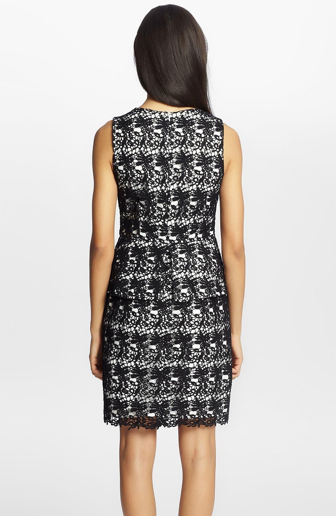 Alternate Image 2  - Cynthia Steffe 'Camille' Lace Peplum Dress