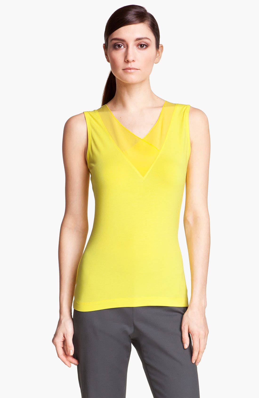 Alternate Image 1 Selected - St. John Collection Silk Trim Knit Top