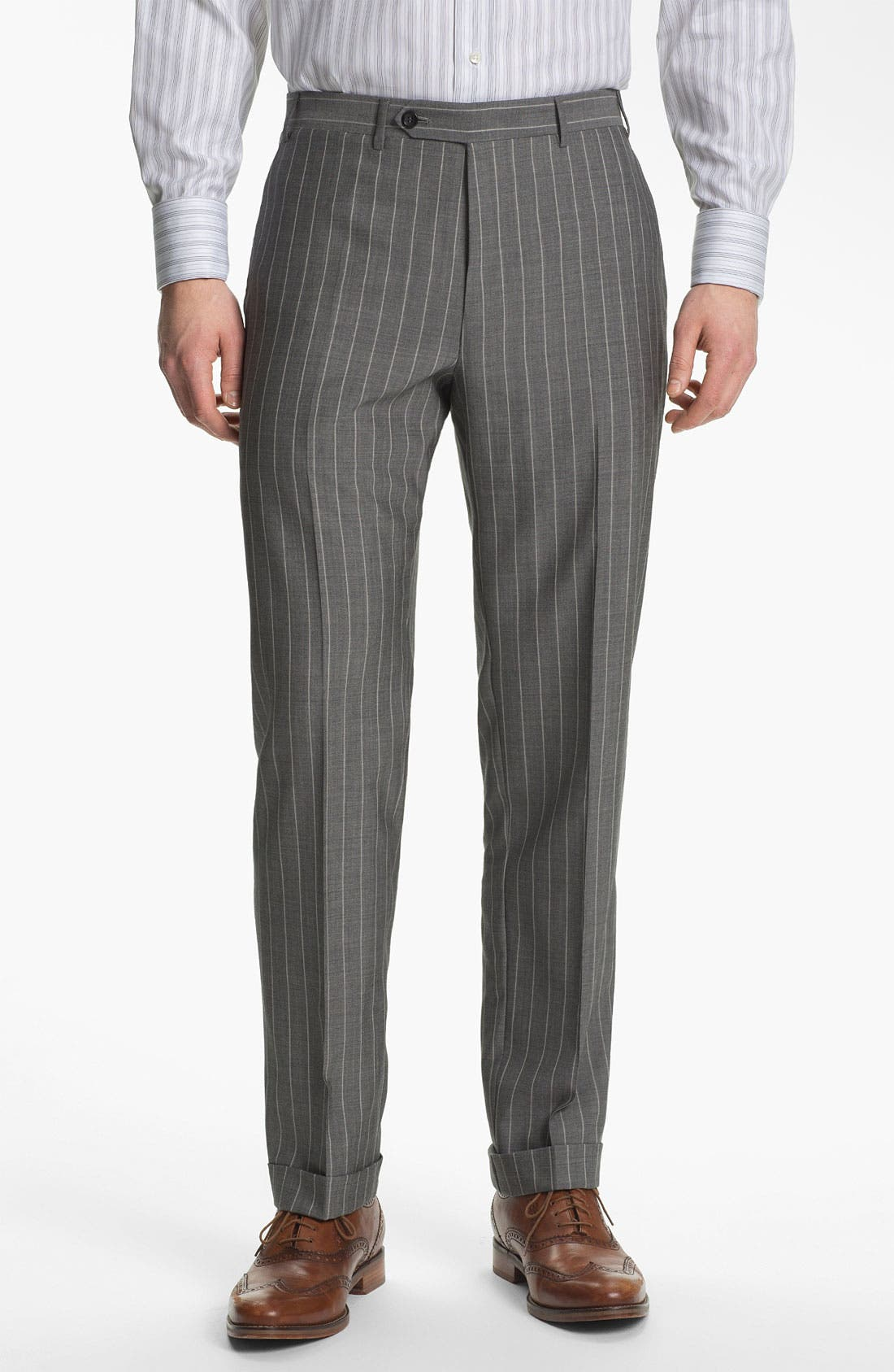 Alternate Image 4  - Canali Double Breasted Stripe Suit