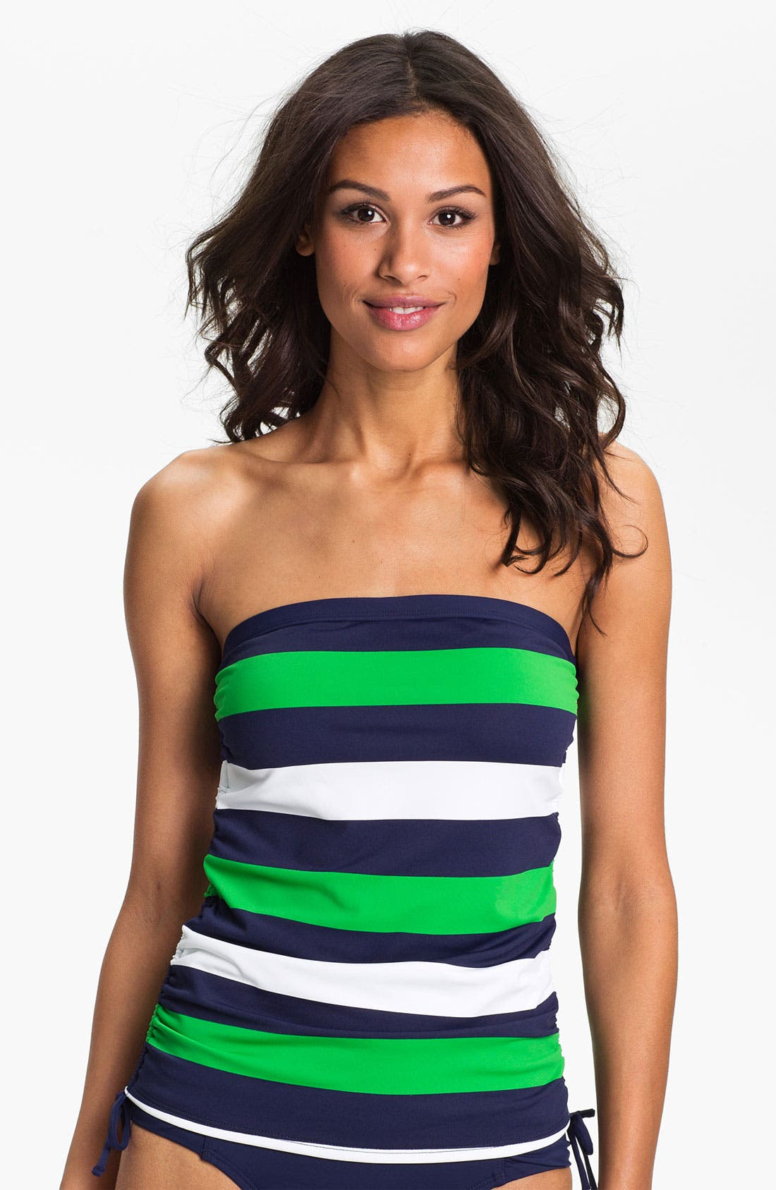 Main Image - Tommy Bahama 'Rugby Stripe' Strapless Tankini Top