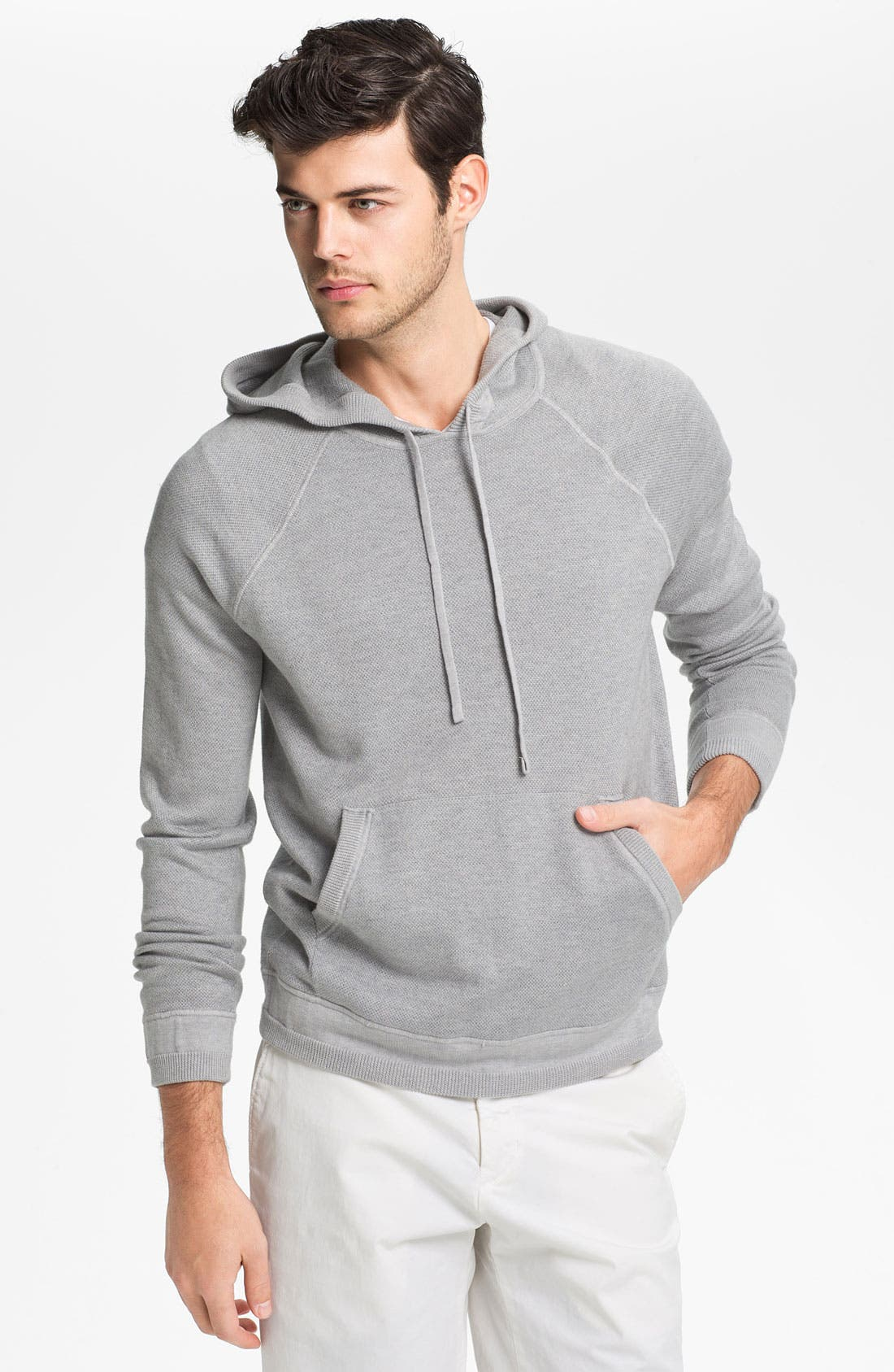 Alternate Image 1 Selected - Vince Cotton & Cashmere Pullover Hoodie
