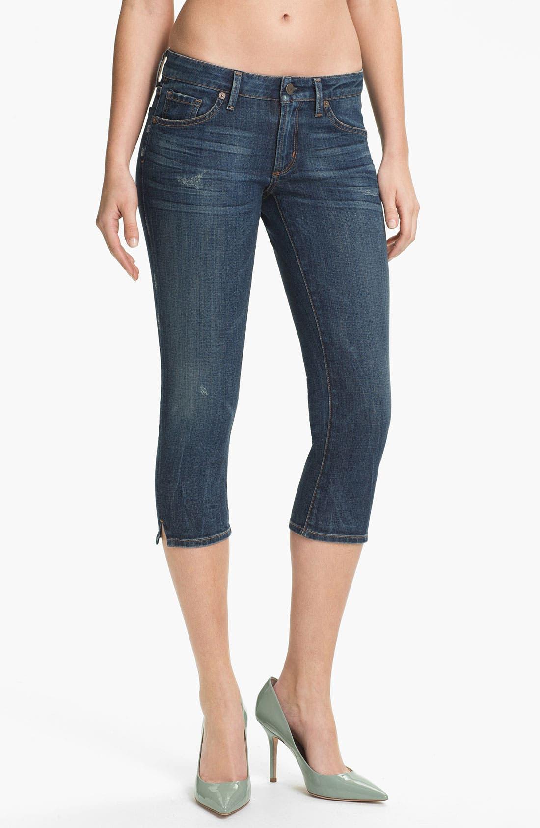 Alternate Image 1 Selected - Citizens of Humanity 'Racer' Crop Skinny Jeans (Slash)