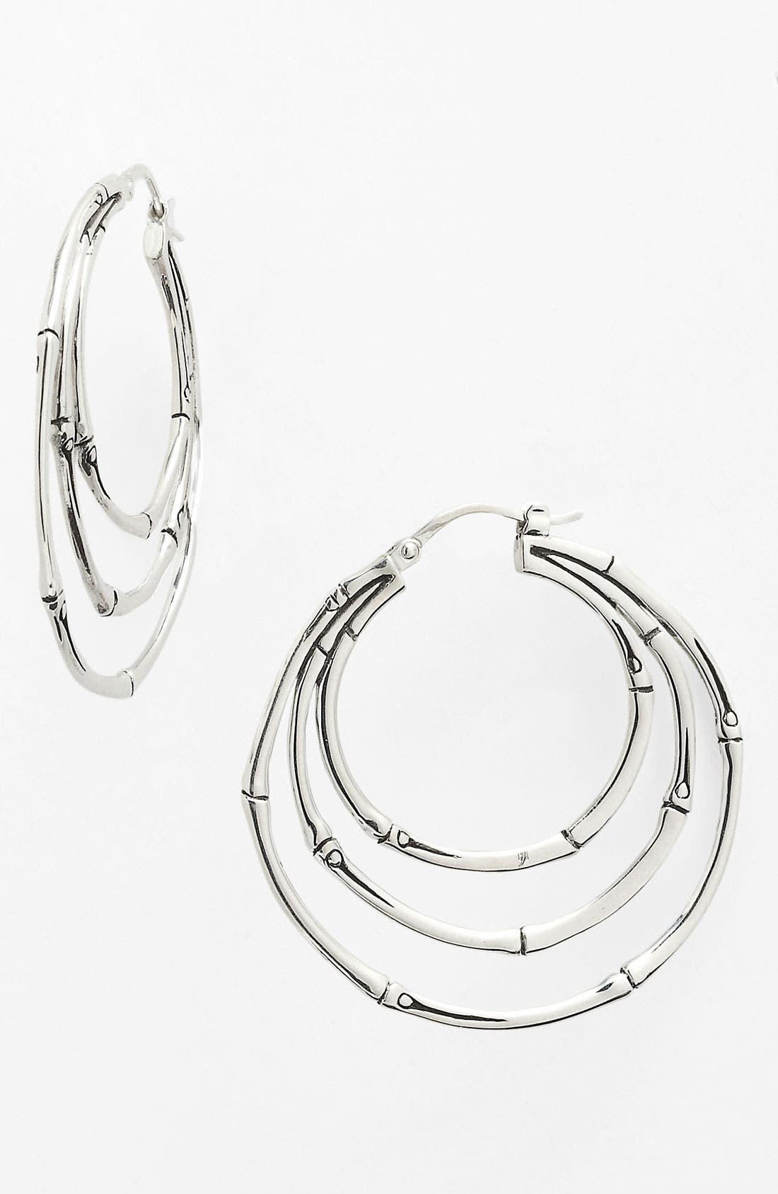 Alternate Image 1 Selected - John Hardy 'Bamboo' Small Orbital Hoop Earrings